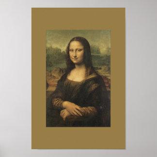 Vintage Art Poster Monalisa