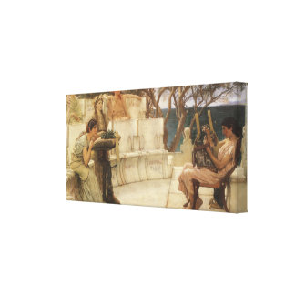Vintage Art, Sappho and Alcaeus by Alma Tadema Canvas Print