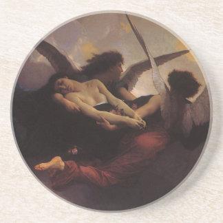Vintage Art, Soul Brought to Heaven by Bouguereau Sandstone Coaster