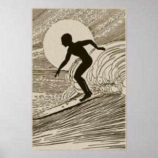 Vintage Art - Surfing Poster