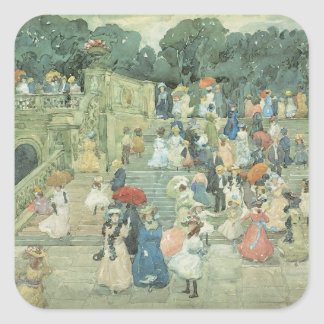 Vintage Art, The Mall, Central Park by Prendergast Square Sticker