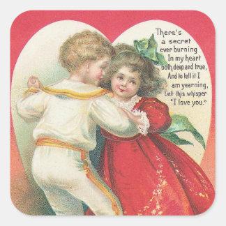 Vintage art Valentine's Day sticker