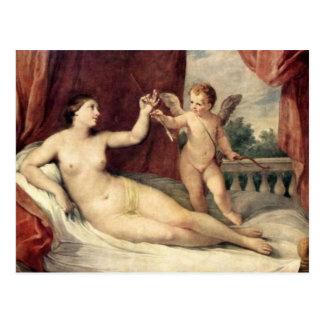 Vintage Art - Venus & Cupid - Reni Postcard