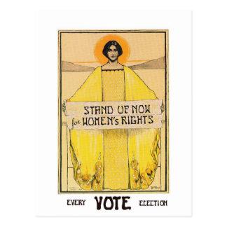 Vintage Art Vote Women's Rights Postcard