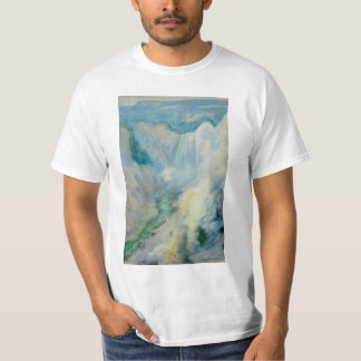 Vintage Art, Waterfall in Yellowstone by Twachtman T-shirt