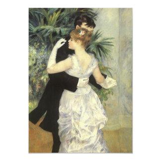Vintage Art Wedding, City Dance by Renoir 13 Cm X 18 Cm Invitation Card