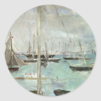 Vintage Art, West Cowes, Isle of Wight, Morisot Round Sticker