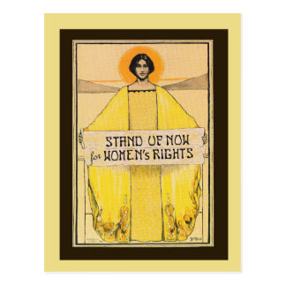 Vintage Art Women's Rights Postcard