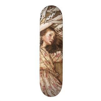 Vintage Arthur Rackham Alice In Wonderland Art Custom Skate Board