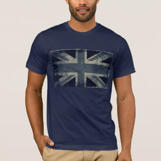 Vintage Artistic Grunge UK Flag T-Shirt