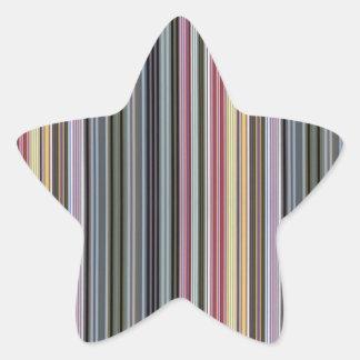Vintage artistic stripes pattern star sticker