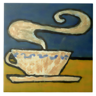 Vintage Arts And Crafts 1906 Coffee Cup Design Tile