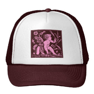 Vintage artwork of Cupid on chocolate background Cap