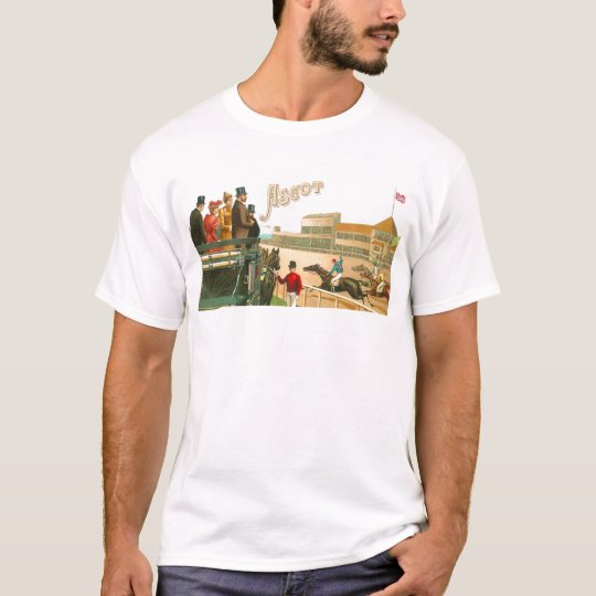 Vintage Ascot Horse Race London Art T-Shirt