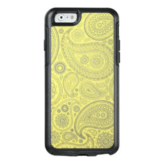 Vintage Ash colored Paisley on yellow background OtterBox iPhone 6/6s Case