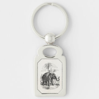 Vintage Asian Elephant Personalized Elephants Key Ring