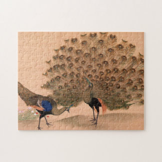Vintage Asian Peacock Jigsaw Puzzle