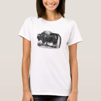 Vintage Asian Yak Retro Yaks Animal Illustration T-Shirt