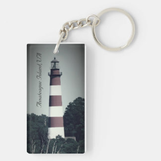 Vintage Assateague Island Lighthouse Keychain