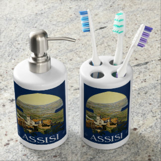 Vintage Assisi Italy bathroom set