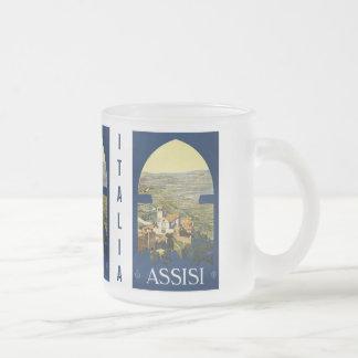 Vintage Assisi Italy custom mugs