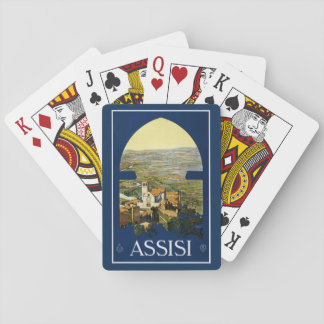 Vintage Assisi Italy playing cards
