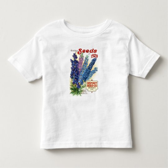 Vintage Assorted Delphiniums Seed Packet Toddler T-Shirt