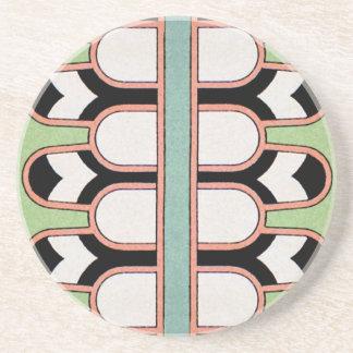 Vintage Assyrian Art Deco Geometric Pattern Mint Coaster