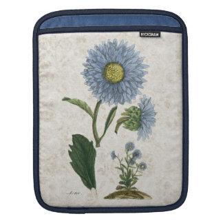 Vintage Aster flower,damask background iPad sleeve