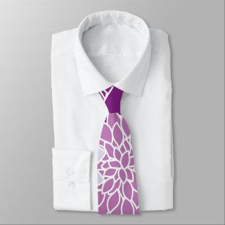 Vintage aster flowers. purple, lilac, dark violet tie