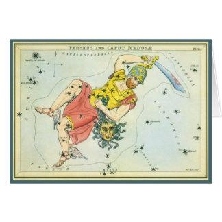 Vintage Astonomy Perseus and Caput Medusa Greeting Card