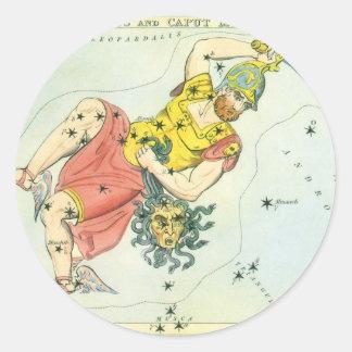 Vintage Astonomy, Perseus and Caput Medusa Classic Round Sticker