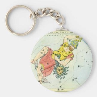 Vintage Astonomy, Perseus and Caput Medusa Keychain