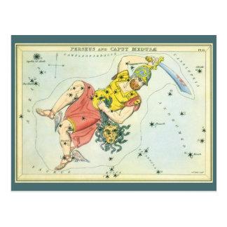 Vintage Astonomy, Perseus and Caput Medusa Postcard