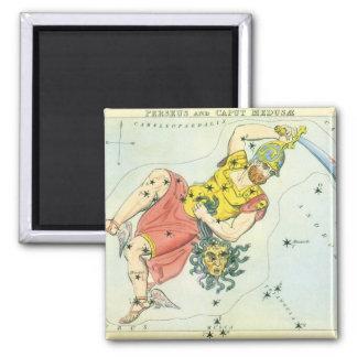 Vintage Astonomy, Perseus and Caput Medusa Square Magnet