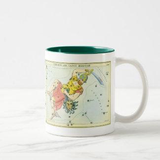 Vintage Astonomy, Perseus and Caput Medusa Two-Tone Mug