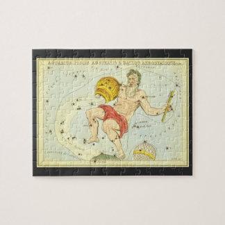 Vintage Astrology Aquarius Constellation Zodiac Jigsaw Puzzle