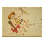 Vintage Astrology / Astronomy Gemini constellation Postcard