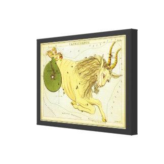 Vintage Astrology Capricorn Constellation Zodiac Stretched Canvas Print