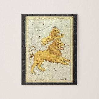 Vintage Astrology Leo Lion Constellation Zodiac Jigsaw Puzzle