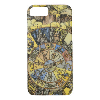 Vintage Astrology, Renaisance Zodiac Wheel, 1555 iPhone 8/7 Case