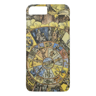 Vintage Astrology, Renaisance Zodiac Wheel, 1555 iPhone 8 Plus/7 Plus Case