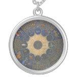 Vintage Astrology Rulers Horoscope Zodiac Round Pendant Necklace