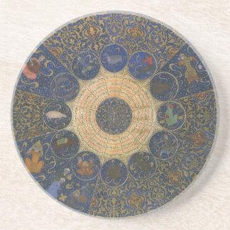 Vintage Astrology Rulers Horoscope Zodiac Sandstone Coaster