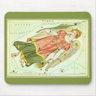 Vintage Astrology Virgo Constellation Zodiac Mousepads