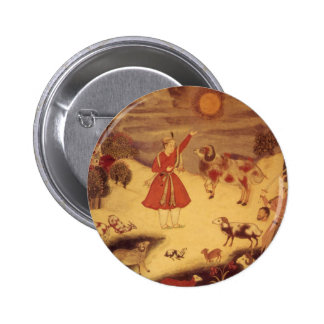Vintage Astronomy, Antique Asian Celestial Art 6 Cm Round Badge