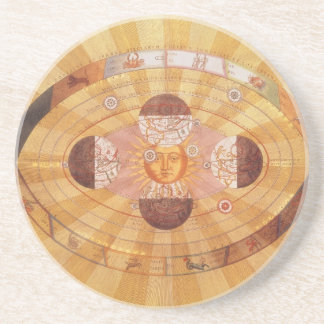 Vintage Astronomy, Antique Copernican Solar System Coaster