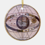 Vintage Astronomy, Antique Ptolemaic Solar System Christmas Ornaments