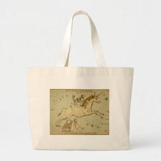 Vintage astronomy astrology Monoceros unicorn Tote Bag