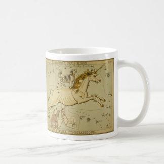 Vintage astronomy astrology Monoceros unicorn Basic White Mug